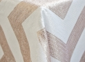 Overlay Chevron White & Blush by Napa Valley Linens