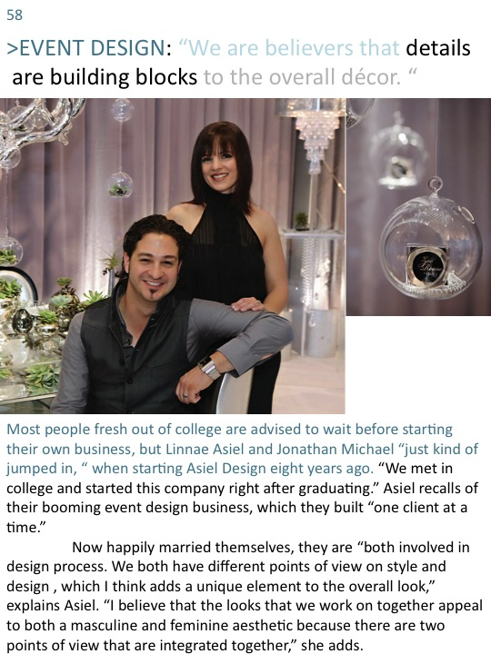 Grace Ormonde Magazine Article Page 1, Asiel Design Interview