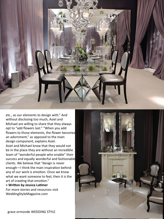 Grace Ormonde Magazine Article Page 4, Asiel Design Interview