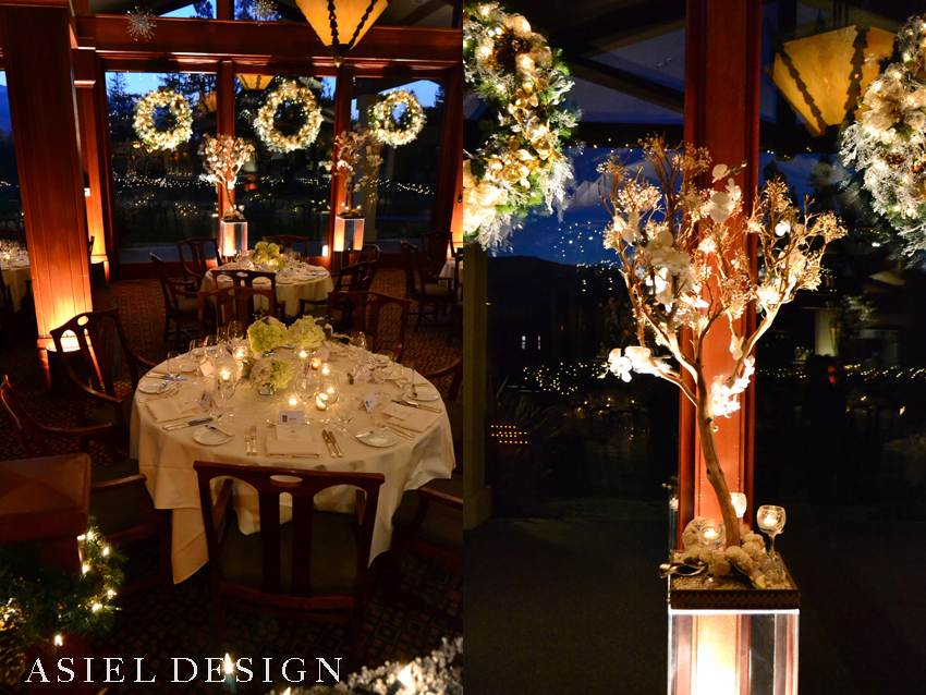 a woodsy winter wonderland |  LOS ALTOS COUNTRY CLUB