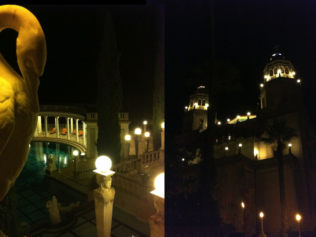 nighttime tour  |  HEARST CASTLE.012