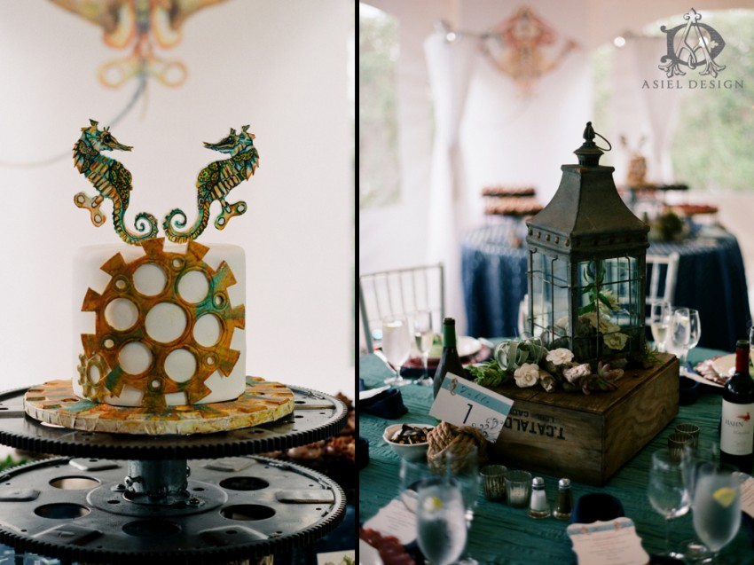 Steampunk nautical wedding