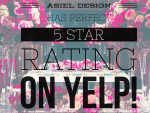 5 star rating on YELP! | ASIEL DESIGN