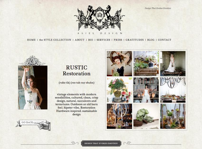 rustic homepage